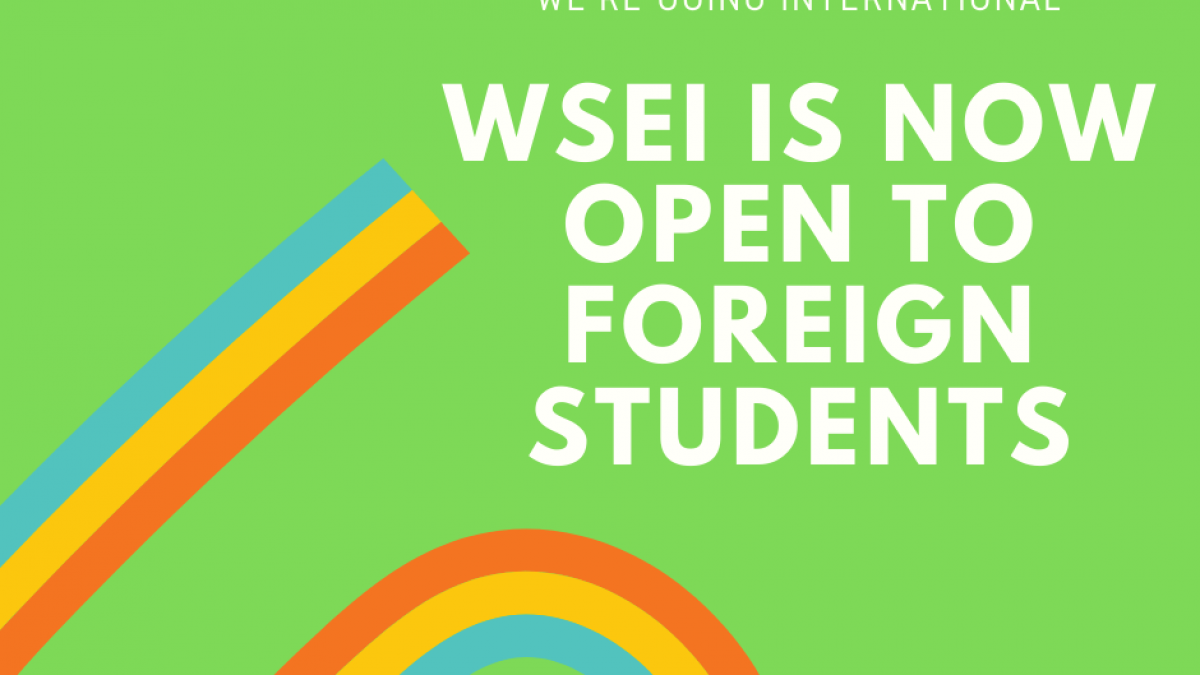 WSEI is now open to foreign students! Pop up Store Announcement Facebook Post e1576145827504 1200x675