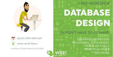 Database design workshop at WSEI