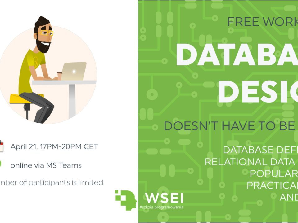 Database design workshop at WSEI